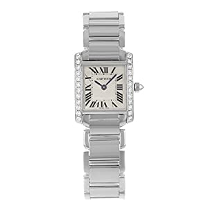 Cartier Tank Francaise 18kt White Gold Diamond Ladies Watch WE1002S3 image