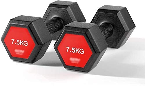 Suge Hantelset Gym Bicep Gewichtheben Gymnastik-Sport-Umwelt Dumbbells PVC beschichtet Sand Eisen Mischung Hex Dumbbells Männer Handbell Handgewichte Heimfitnessgeräte (Size : 3kg*2)