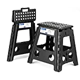 Acko 16 Inches Super Strong Folding Step Stool for Adults and Kids, Light Blue Kitchen Stepping Stools, Garden...