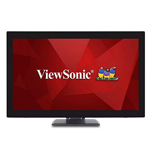 ViewSonic TD2760 27 Inch 1080p 10-Point Multi Touch Screen Monitor with Advanced Ergonomics RS232 HDMI and DisplayPort