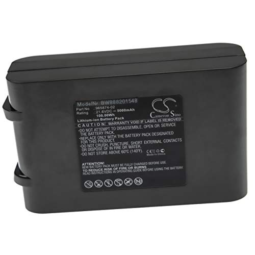 vhbw Batería compatible con Dyson V6 Up Top, V6 Total Clean, DC62 Animal aspiradora, robot de limpieza (5000mAh, 21,6V, Li-Ion)