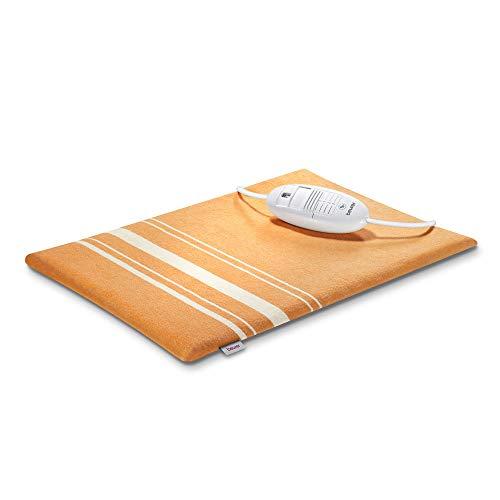 Beurer HK 35 Heizkissen, kuscheliges Wärmekissen mit 3 Temperaturstufen, Abschaltautomatik, Bezug maschinenwaschbar, orange