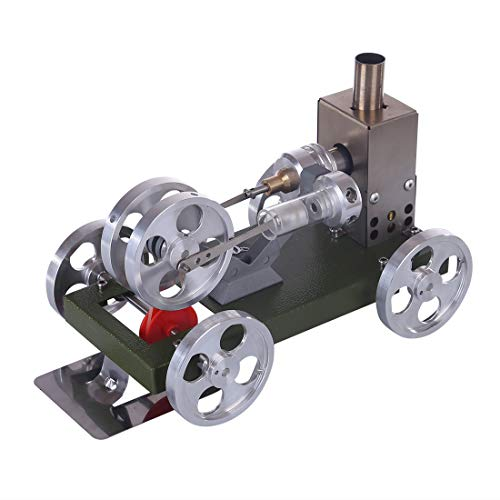 deguojilvxingshe DIY Montage Metall Stirling Motor Automodell, Mini Dampfmaschine Auto Generator Modell Physikalisches Experiment Modell, Kinderwissenschaft Lernspielzeug