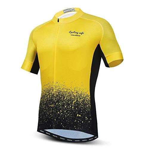Men's Cycling Jersey Bike Short Sleeve Shirt Tops Gradient Colorful S-3XL