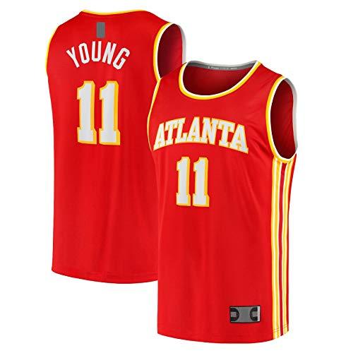 LANHUA Camiseta de baloncesto Red Fast Break Jugador Atlanta Icon EditionMen's Hawks #11 Trae Traning Jersey Joven Deportes -XXL