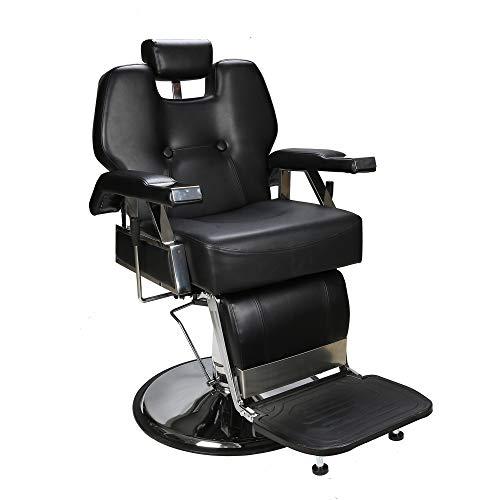 BarberPub Friseurstuhl Friseursessel Bedienungsstuhl Friseureinrichtung Hydraulisch Stuhl 2801BK
