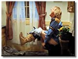 ArtWorks Decor Dumb and Dumber Harry on The Toilet Humor Picture on Stretched Canvas Wall Art, Ready to Hang!