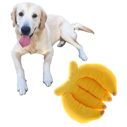 Jouet pour chien en peluche chat Banana modèle Lovely Sons Jouets