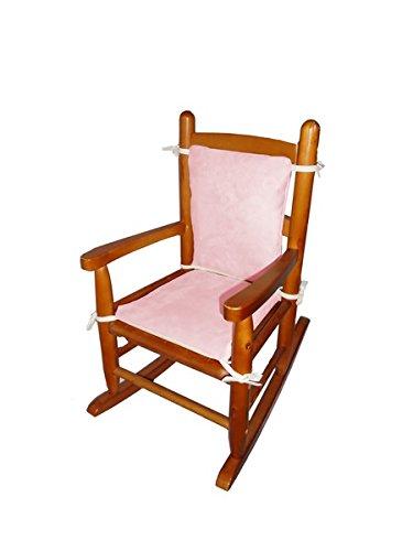 Baby Doll Bedding Suede Junior Rocking Chair Cushion, Pink