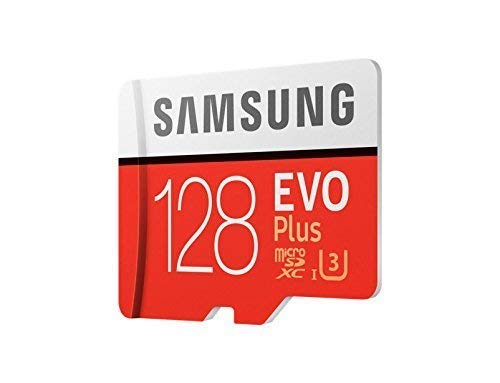 Samsung, MB-MC128GA/EU EVO Plus, Mikro-SD-Karte, 128 GB, UHS-I, Klasse U3, UHS-I, bis 100 MB/s Lesegeschwindigkeit, 90 MB/s Schreibgeschwindigkeit, inklusive SD-Adapter