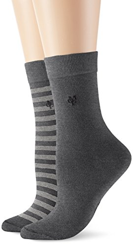 Marc O'Polo Body & Beach SVEA Damen Socken, Grau (grau-mel. 202), 35/38 (Herstellergröße: 400)
