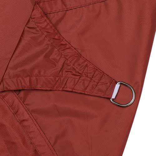 QAZW Toldo rectangular impermeable con protección contra los rayos UV, tela Oxford para terrazas al aire libre, patio trasero y jardín, color rojo
