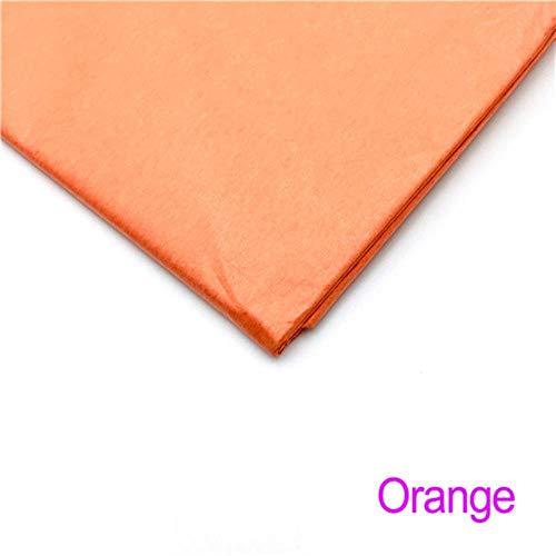 Miner 10 vellen inch Tissuepapier Bloem Kleding Overhemd Schoenen Geschenkverpakking Ambachtelijke papierrol Wijn inpakpapier, oranje
