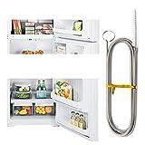 冷蔵庫のブラシ、柔軟な冷蔵庫のブラシ、冷蔵庫のクリーニングブラシ、ステンレス鋼のナイロンスプリング冷蔵庫の排水穴の浚渫ツール、キッチンの排水管のクリーニングブラシに使用
