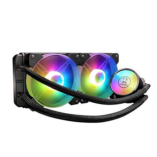 Docooler 240 Enfriador de Agua para PC con Ventiladores silenciosos RGB de 120 mm CPU Radiador de líquido para LGA775 / 115X / AM4 / AM3 / FM2