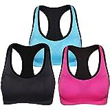 ANGOOL Strappy Sports Bras for Women,Medium...