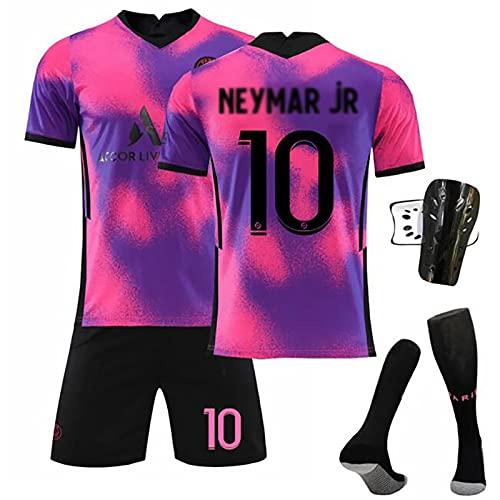 Weqenqing Camiseta De Local 2021, Camiseta Número 10, Camiseta De Uniforme De Entrenamiento De Secado Rápido Transpirable para Adultos Y Niños, Traje De Uniforme De Equipo para Adultos