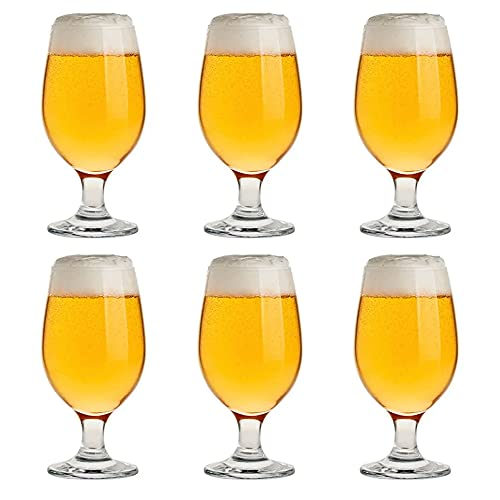 Set 6 Copas de Cerveza, Vaso para Cerveza de Cristal, 37CL Apto...