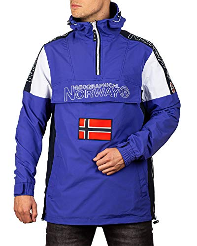 Geographical Norway Chaqueta cortavientos casual para hombre