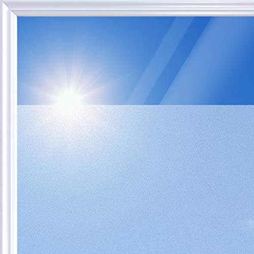 Navaris Fenster Milchglasfolie 90x200cm - selbstklebend mit statischer Haftung - lichtdurchlässig - Milchglas Klebefolie Küche Bad Dusche Tür Büro