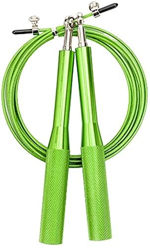 Cuerda de saltar jump rope Cuerda de saltar con la gimnasia adulta   Cuerda de alambre de acero antideslizante con mango de aluminio metálico   Longitud ajustable para el ejercicio de reducción de gra