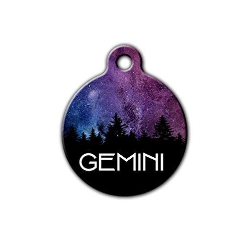 Space dog tag, Galaxy pet tag, Nights sky pet tag, Stars Pet Tag, Outdoor pet tag, forest pet tag, tree pet tag, dog tag for dogs,personalized aluminum pet id tag