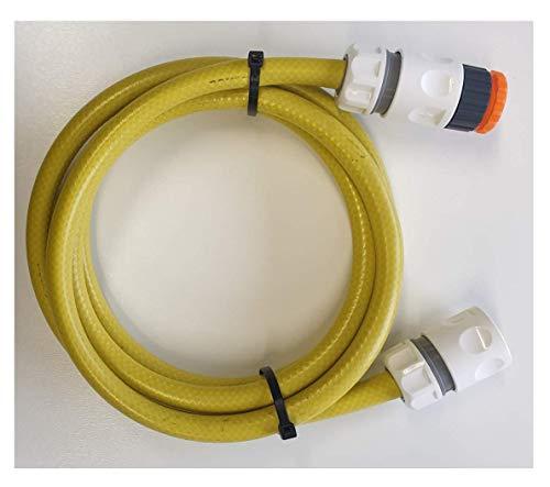 MRS Group Kit de conexión WMS+Z (1/2 pulgadas) de 2 m: adaptador de manguera para conectar el carro de manguera, manguera con acoplamientos rápidos y grifo