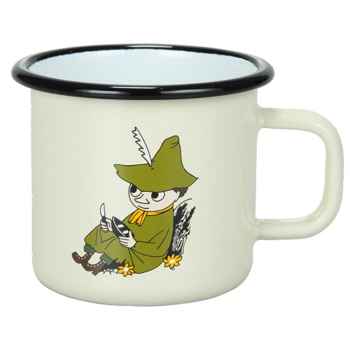 Muurla Moomin ムールラ ムーミン Snufkin cream スナフキン ホーローマグカップ 1701-037-23 クリーム 並行輸入品