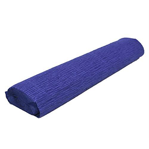 QINGRUI Embalaje 250 * 25 cm Coloreado Crepe Rollo DE Papel Origami CRIBLE CRIBLE Crepe CRABAJA DE DIY Flores DE DIY Decoración Regalo Envolver Artesanía Decoración de Arte (Color : Royal Blue)