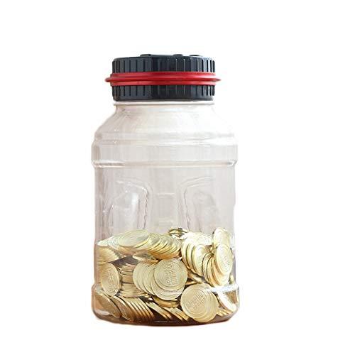 Hucha Banco de monedas Banco de dinero Caja de din Piggy Bank Counter Moneda Electrónica Digital LCD Contando Moneda Caja de ahorro de dinero Puede Moneda Caja de almacenamiento Regalos de cumpleaños