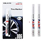 White tire marker and black Correction pen set Universal Waterproof Permanent oil based Paint Markers Car Tyre...