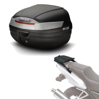 Sh37he93 - Kit fijacion y Maleta baul Trasero sh37 Compatible con Suzuki sfv 650 Gladius 2009-2014 Suzuki Gladius 650 2009-2016