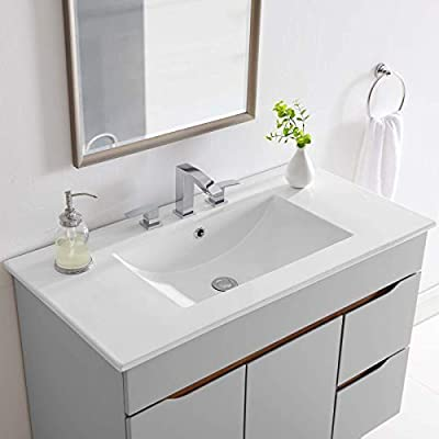 "Modway EEI-4203-WHI Cayman 36"" Bathroom Sink, White"