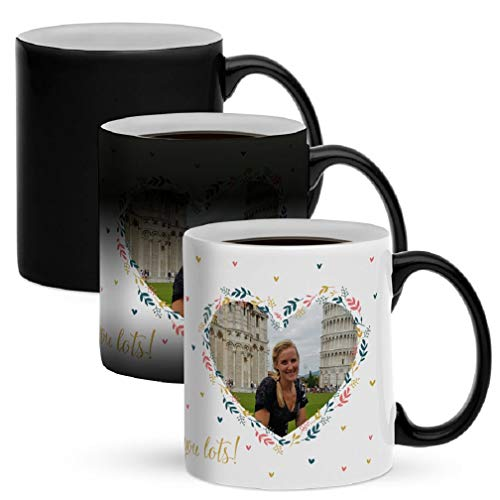Taza mágica personalizada con foto - Personaliza este original regalo de la taza mágica con tu propia foto para sorprender a tus seres queridos.