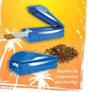 Nass Hülsen Stopfgerät (3-Fach) - 3 Zigaretten stopfer - Hülsen stopfgerät