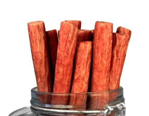 Mission Meats Hardwood Smoked Bacon Pork Sticks Antibiotic Free Gluten Free MSG Free Nitrate Nitrite Free All Natural Premium Pork Sticks (12 count)