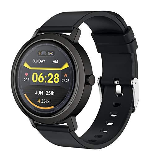 Smartwatch, Reloj Inteligente 1.3'' Táctil Completa IP67, Pulsera De Actividad Deportivo Pulsómetro Monitor De Sueño, Control De Musica Para Hombre Mujer Adolescentes,Negro