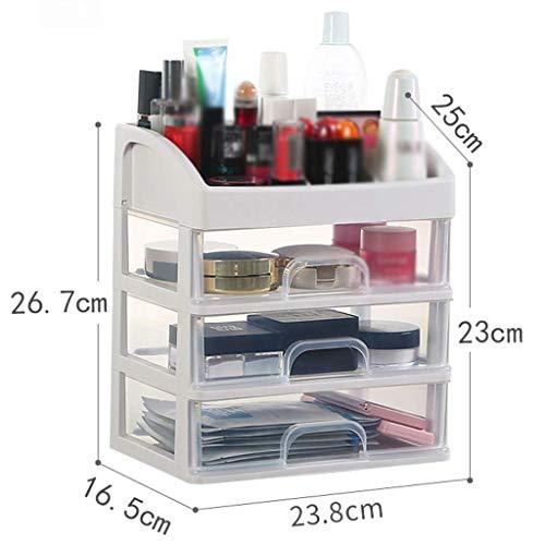 ZTMN Boîte de Rangement cosmétique Multicouche Simple en Plastique Transparent Type de tiroir Rouge à lèvres Bijoux Produits de Soins de la Peau boîte de Rangement de Stockage (Taille: 23,8 * 16,