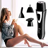 Owme 4 in 1 Attachments Private Part Bikini Shaper and Trimmer for Women Portable Design with...