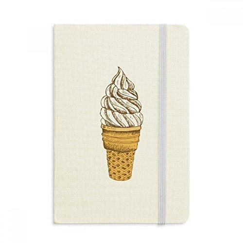 DIYthinker Sahne, Schokolade, Ei-Kegel-Eiscreme-Notebook Stoff Hard Cover Klassisches Journal Tagebuch A5 A5 (144 X 210mm) Mehrfarbig