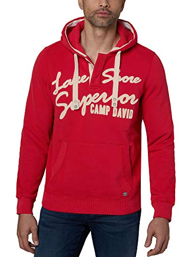 Camp David Herren Kapuzensweater mit Logo-Stickerei