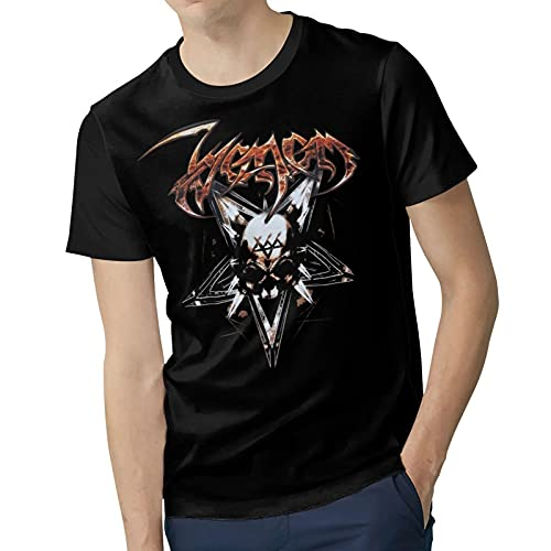 Man's Polyester Soft Short Sleeve top V`enom&Band Funny Round Neck tee Shirt Suitable for Four Seasons X-Large Black