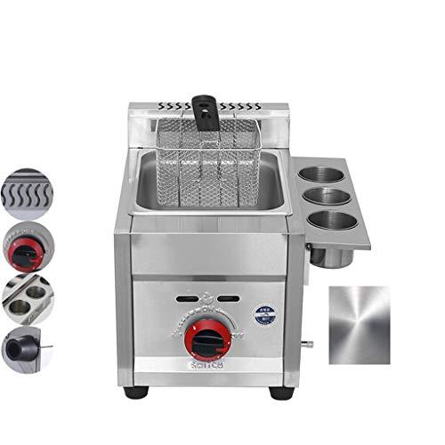 D@ Multifunktions Gas fritteuse 6L,Friteuse Super-Firepower,schnelle Heizung handelsübliche Gastemperaturregelung Friteuse,Restaurants