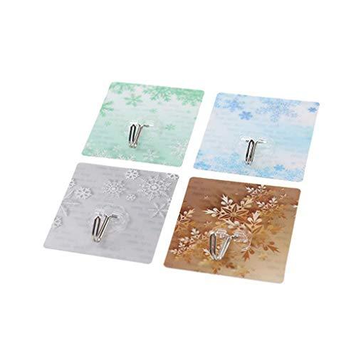 Xinjieda colgadores de Pared Baño 8pcs Adhesiva de PVC de Pared de Metal Ganchos Nail Libre de la Pared para Toallas lufa Albornoz Coats Ganchos