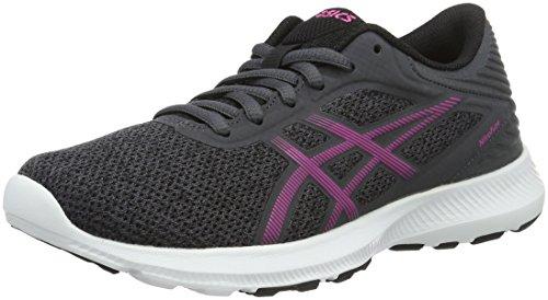 Asics Nitrofuze, Zapatillas de Gimnasia para Mujer, Grigio (Dark Steel/Pink Glow/Black), 36 EU