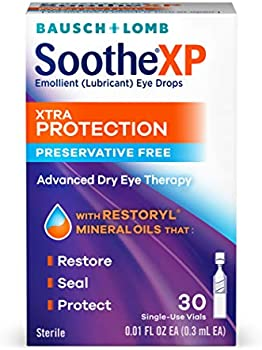 30-Count Bausch+Lomb Soothe XP Lubricant Eye Drops Single Use Dispensers