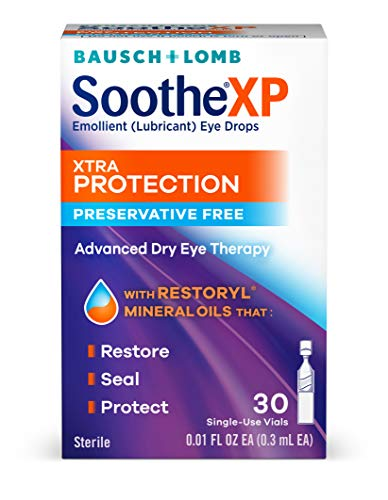 Bausch + Lomb Soothe Lubricant Eye Drops Box Of 30 Single Use Dispensers For $1.44-$2.08 From Amazon After $11 Price Drop!