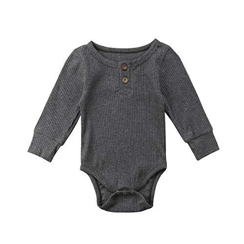 Mameluco de manga larga para recién nacido, de una pieza, de algodón, básico