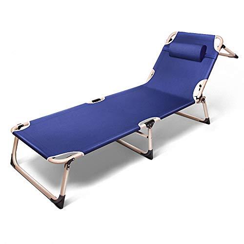 VIXA たたみベッド 三つ折り四脚折りチェアーベッド リクライニング式 簡易ベッド 4段階調整 通気性 コンパクト アウトドアチェア リクライニングベッド 組み立て簡単 アウトドア キャンプ ビーチ 室内 仮眠・残業・防災用 枕付き 耐荷重 200kg