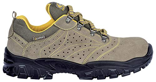 Cofra New Nilo S1 P SRC, Zapatos de Seguridad, Beige/Amarillo, 41